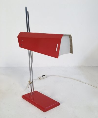 Mid Century Metal Desk Lamp by Josef Hurka for Lidokov, c.1960