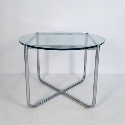 Glass & Chrome MR Side Table by Mies Van Der Rohe for Knoll, c.1970