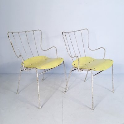 Pair of 'Antelope' Chairs by Ernest Race, England c.1950