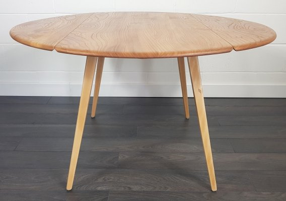 Ercol Mid Century Drop Leaf Dining Table, 1960s