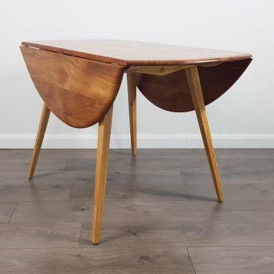 Round Ercol Drop Leaf Table, 1960s