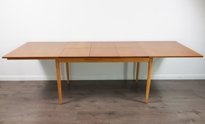Mid Century Triple Extending Dining Table, 1960s