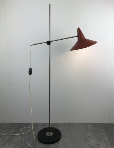 Adjustable Pendelarm floorlamp by J. Hoogervorst for Anvia Almelo, 1960s