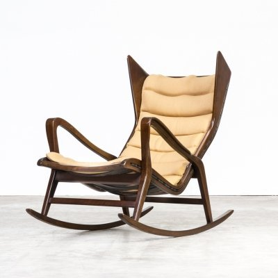 50s Gio Ponti model 572 rocking chair for Cassina