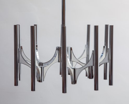 Italian Scultura collection chandelier by Gaetano Sciolari for Lightolier, 1960s
