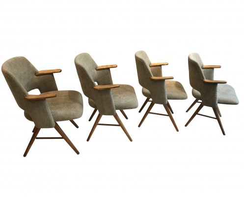 4 x FT30 arm chair by Cees Braakman for Pastoe, 1950s