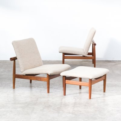 Finn Juhl 'model 137' Chairs & ottoman for France & Son, 1950s