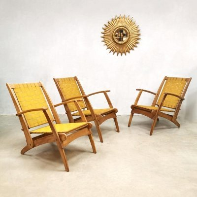 Vintage design Italian pool folding chairs, 1960s