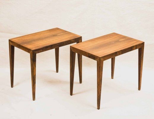 Pair of Severin Hansen rosewood side tables, 1959