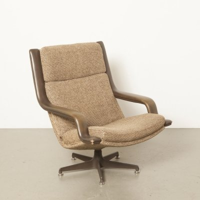 Brown F140 lounge chair by Geoffrey Harcourt for Artifort, 1970s