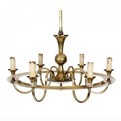 Brass Hoop Chandelier