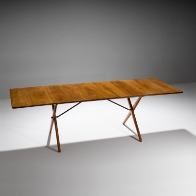 Hans Wegner Drop-leaf Dining Table Model AT-309, Denmark 1950s
