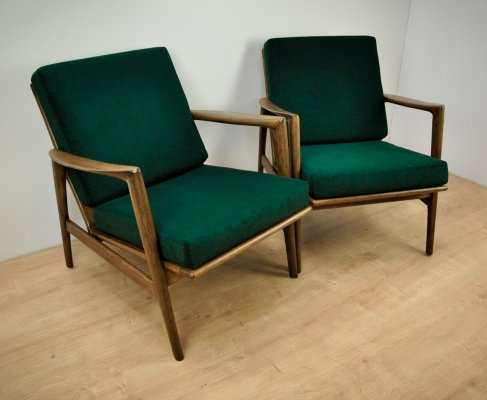 Pair of 300-139 Armchairs by Swarzędzka Furniture Factory, 1960s