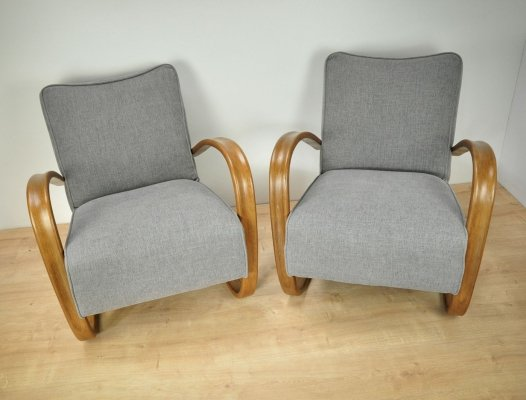 Pair of H-269 Armchairs by Jindřich Halabala for UP Závody, 1950s