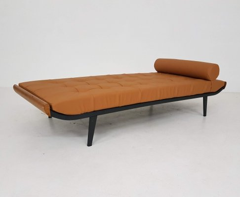 Cognac André Cordemeyer for Auping 'Cleopatra' daybed, The Netherlands 1953