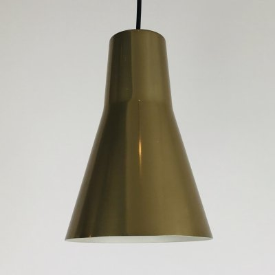 Brass Pendant Light by Lisa Pape for Orno Finland, 1960s