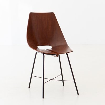 Italian Plywood Chair by Società Compensati Curvati, 1950s