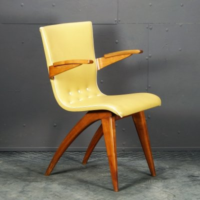 Rare Bullhorn easy chair by C.J. van Os