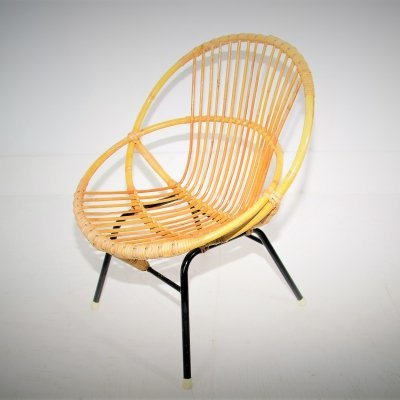 Rattan chair by Rohe Noordwolde, 1960s