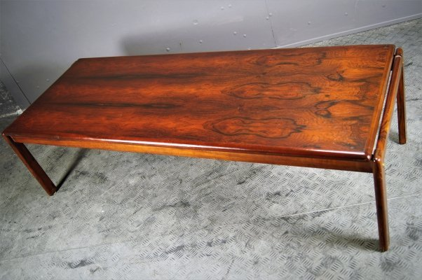 Rosewood low coffee table, 1960s