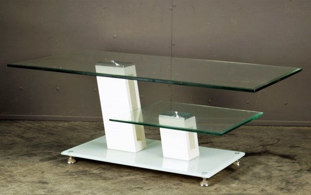 Glass plateau coffeetable, 1990s