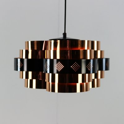 P63 hanging lamp by Werner Schou for Coronell Elektro Denmark, 1960s