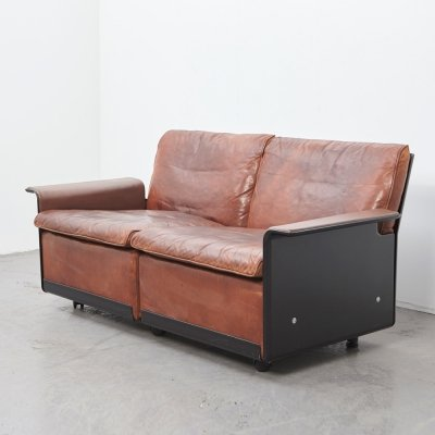 Dieter Rams Leather 2-Seater Sofa 620 Series for Vitsoe, 1962