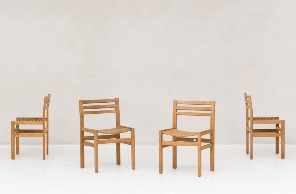 4 dining chairs in solid pine