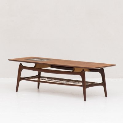 Two-tier coffee table by Louis van Teeffelen for Wébé, 1950's