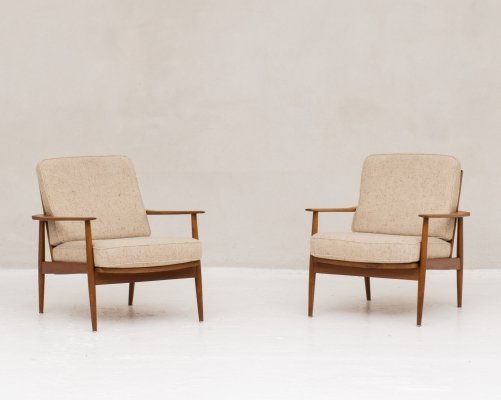 Two easy chairs by Wilhelm Knoll for Antimott, Germany 1960's