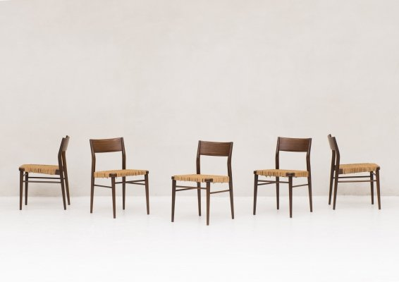 5 dining chairs 'Model 351' by Georg Leowald for Wilkhahn, 1950's