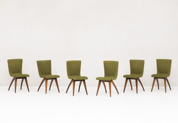 Set of 6 'Swing' dining chairs by G. van Os, 1960's
