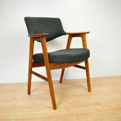 Vintage Teak Side Chair by Erik Kirkegaard for Høng Stolefabrik, 1960s