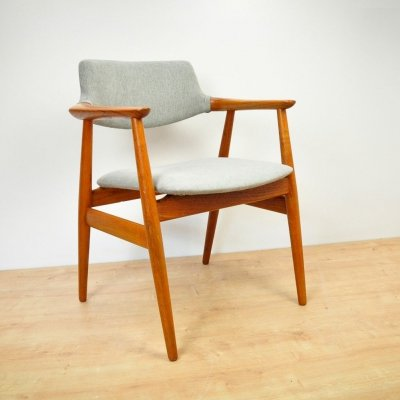 Vintage GM11 Teak Side Chair by Svend Åge Eriksen for Glostrup, 1960s