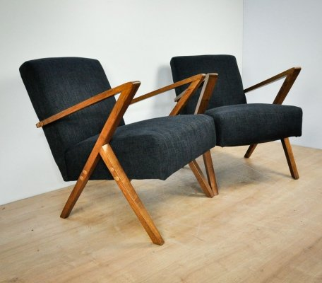 Pair of Polish Armchairs from Bydgoszcz Cooperative Odnowa, 1970s