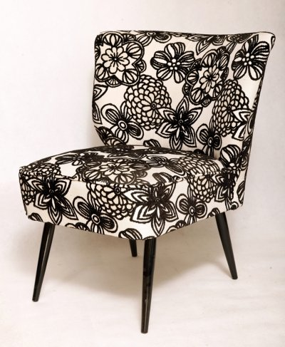 Mid-Century club armchair in Italian jacquard upholstery, Germany 1960s
