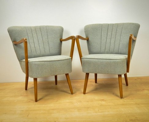 Pair of Mid-Century Cocktail Armchairs, 1950s