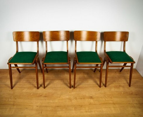 Set of 4 Bumerang Dining Chairs from Gościcińskie Furniture Factory, 1960s