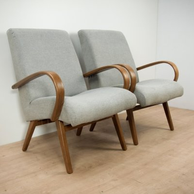Pair of Model 53 Armchairs by Jaroslav Smidek for TON, 1960s