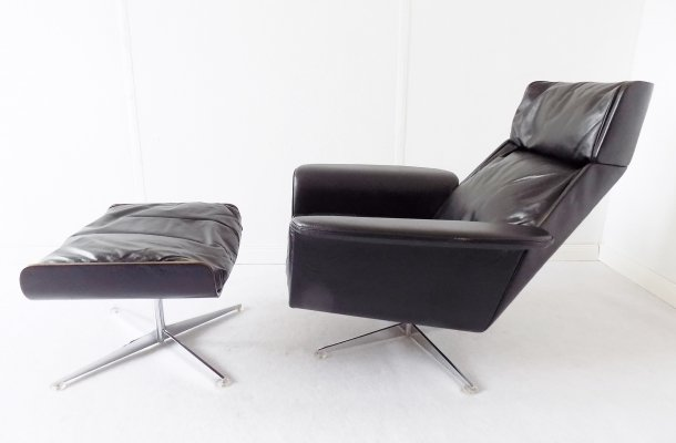 Kaufeld Siesta 62 Lounge Chair with ottoman by Jacques Brule, 1960s
