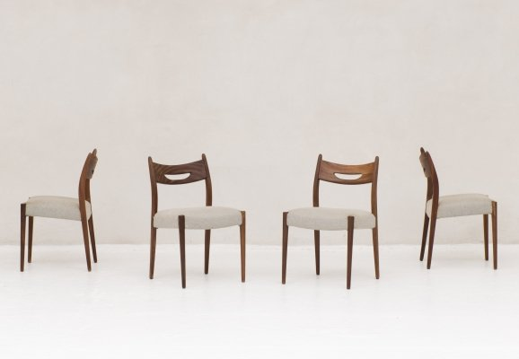Set of 4 Dutch dining chairs, 1960's