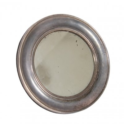 Small Round Silver Mirror by Mappin & Webb