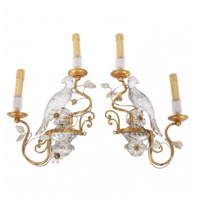 Pair of Baguès Style Wall Sconces by Banci Florence