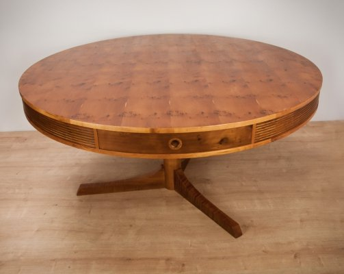 Yew Drum Table by Robert Heritage for Archie Shine, 1950s