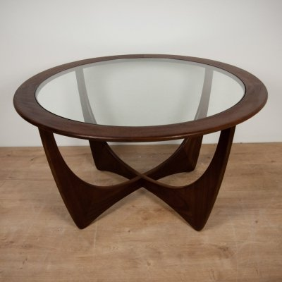 Round Astro Teak Coffee Table by Victor Wilkins for G-Plan, 1960s