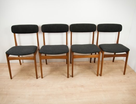 Set of 4 Mid Century Dining Chairs from Thorsø Stolefabrik, 1960s