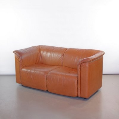 Wittmann hochbarett 2-seater sofa in light brown leather