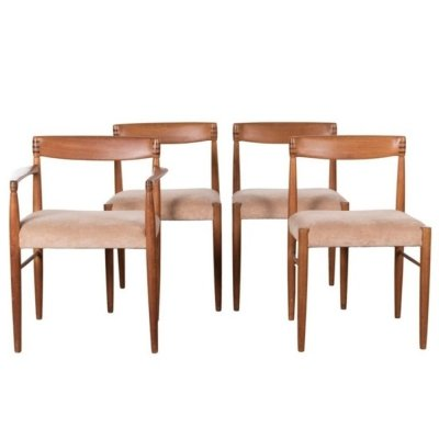 Set of 4 Henry W. Klein Danish dining room chairs, 1960s