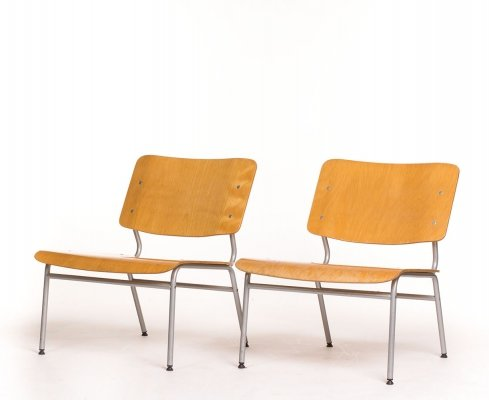 Pair of Vintage plywood lounge chairs by IKEA, 1970s