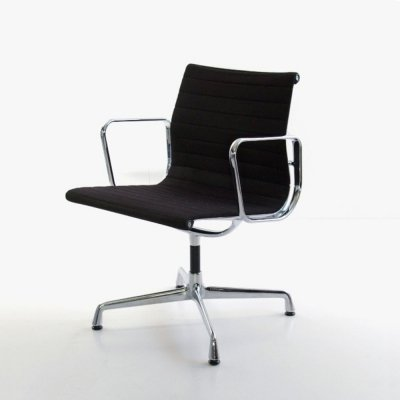 Black hopsak EA108 office chair by Charles & Ray Eames, 1980s